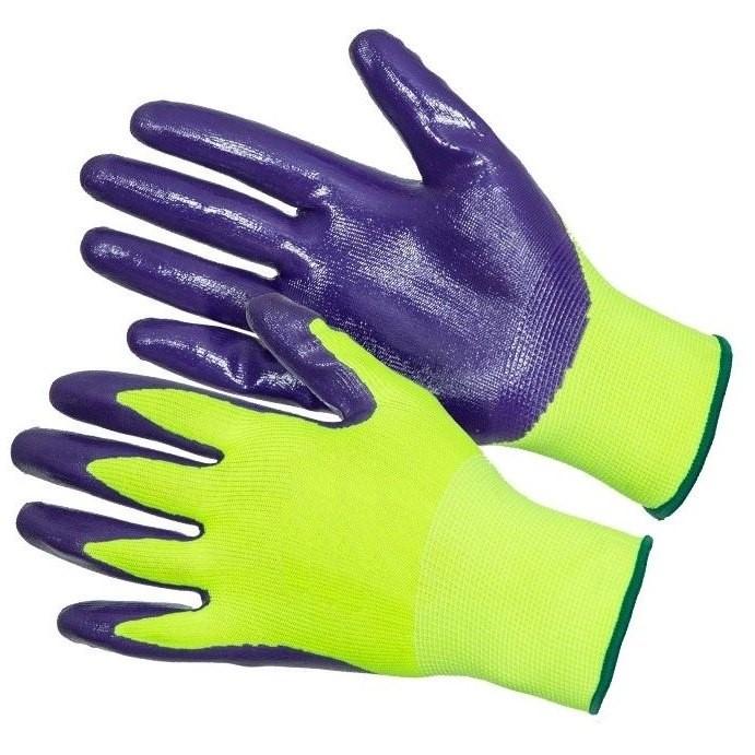 """Перчатки нейлон 13 класс с нитриловым покрытием """"Gward Hi-Vis"""""""