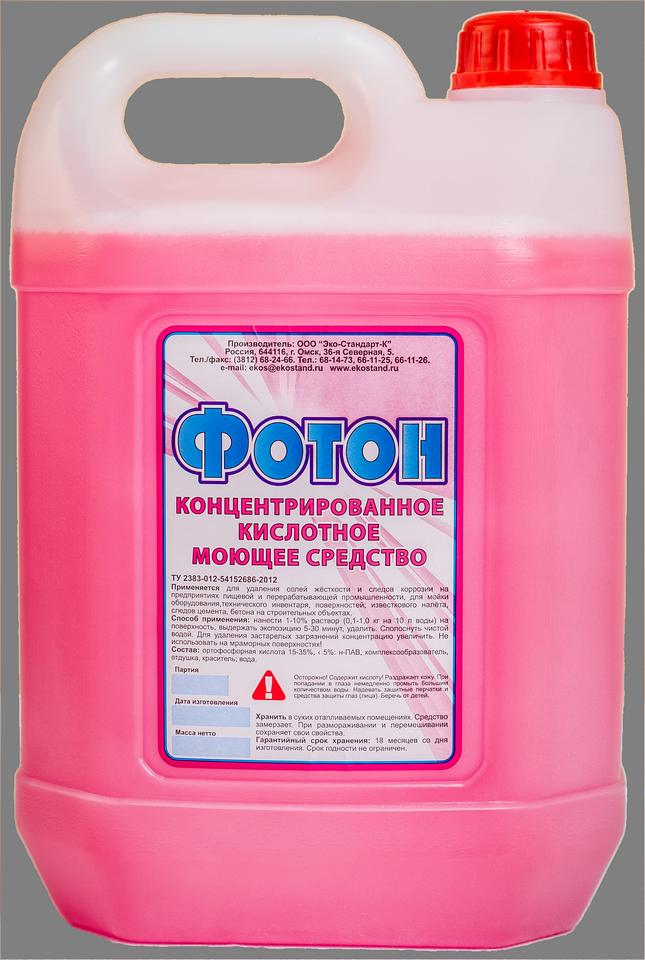 """""""Фотон""""  Кислотное пенное моющее средство (концентрат)"""