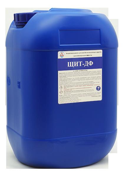 Концентрированное щелочное беспенное моющее средство с дезинфицирующем эффектом «ЩИТ-ДФ»