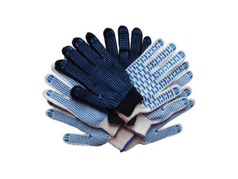 Перчатки трикотажные х/б с ПВХ 5 нитей 10 класс вязки